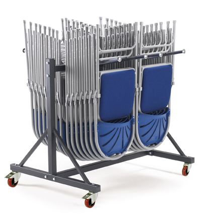 Warrior 250kg Two Tier 2 Row Upright Chair Trolley
