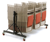 Warrior 250kg Two Tier 3 Row Upright Chair Trolley