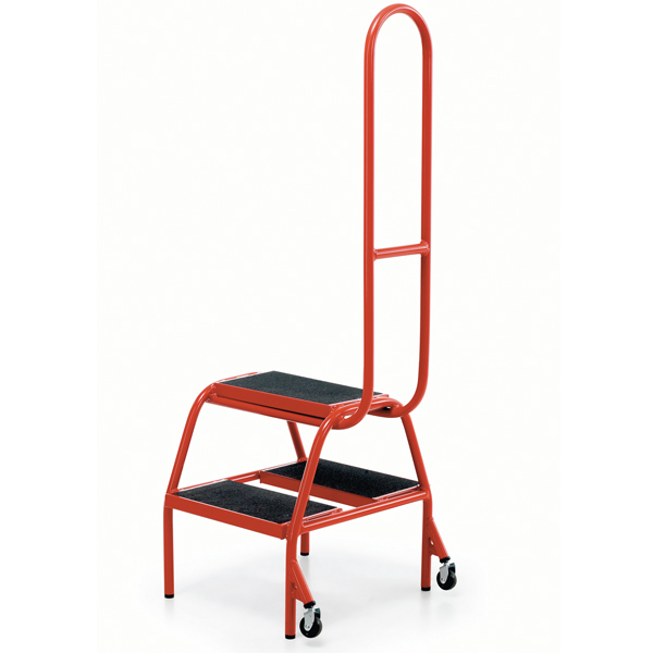 Warrior 2 Step Wheelalong Small Steel Steps c/w Grab Handle