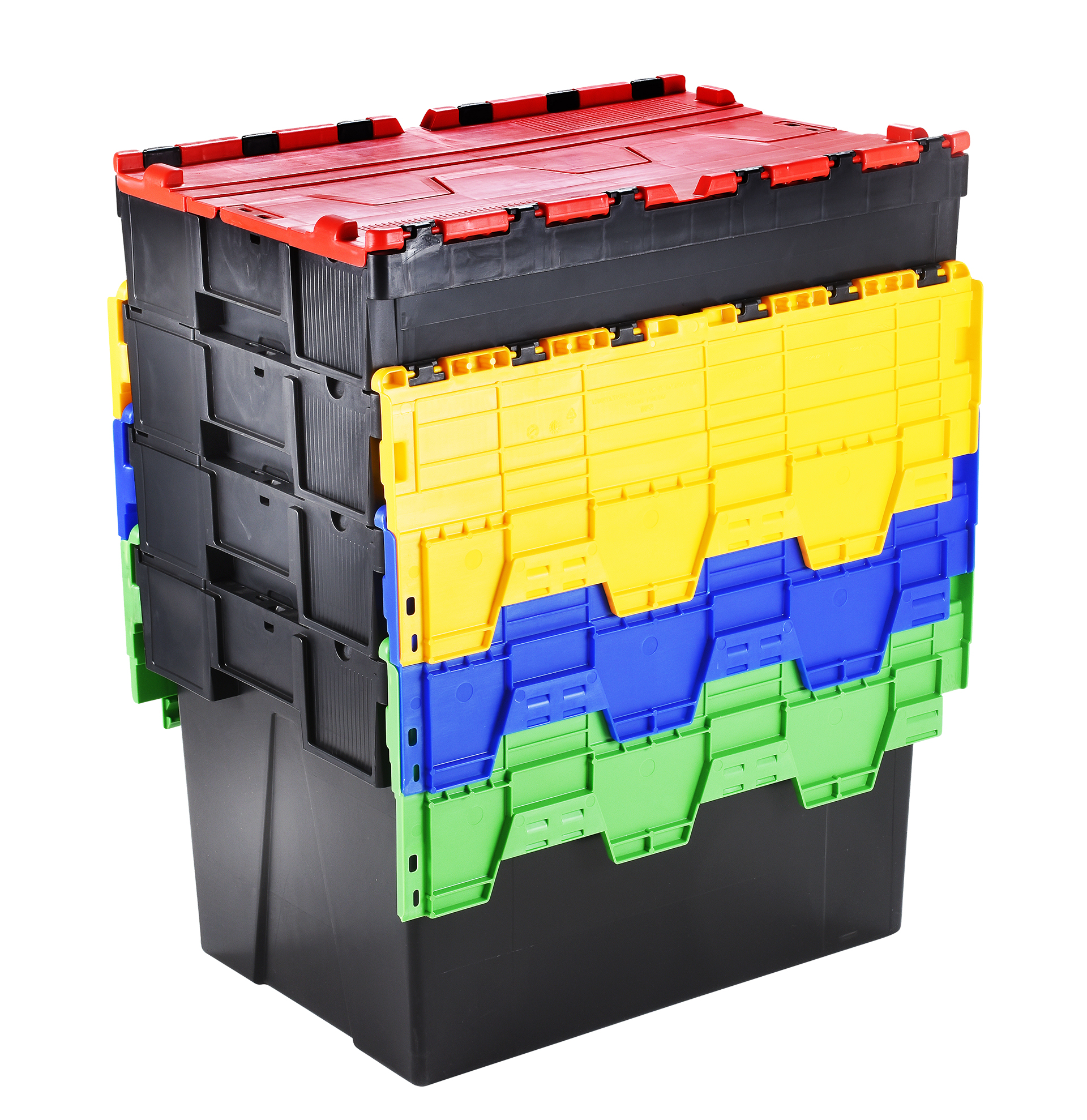 Warrior 65 Litre Attached Lidded Euro Containers