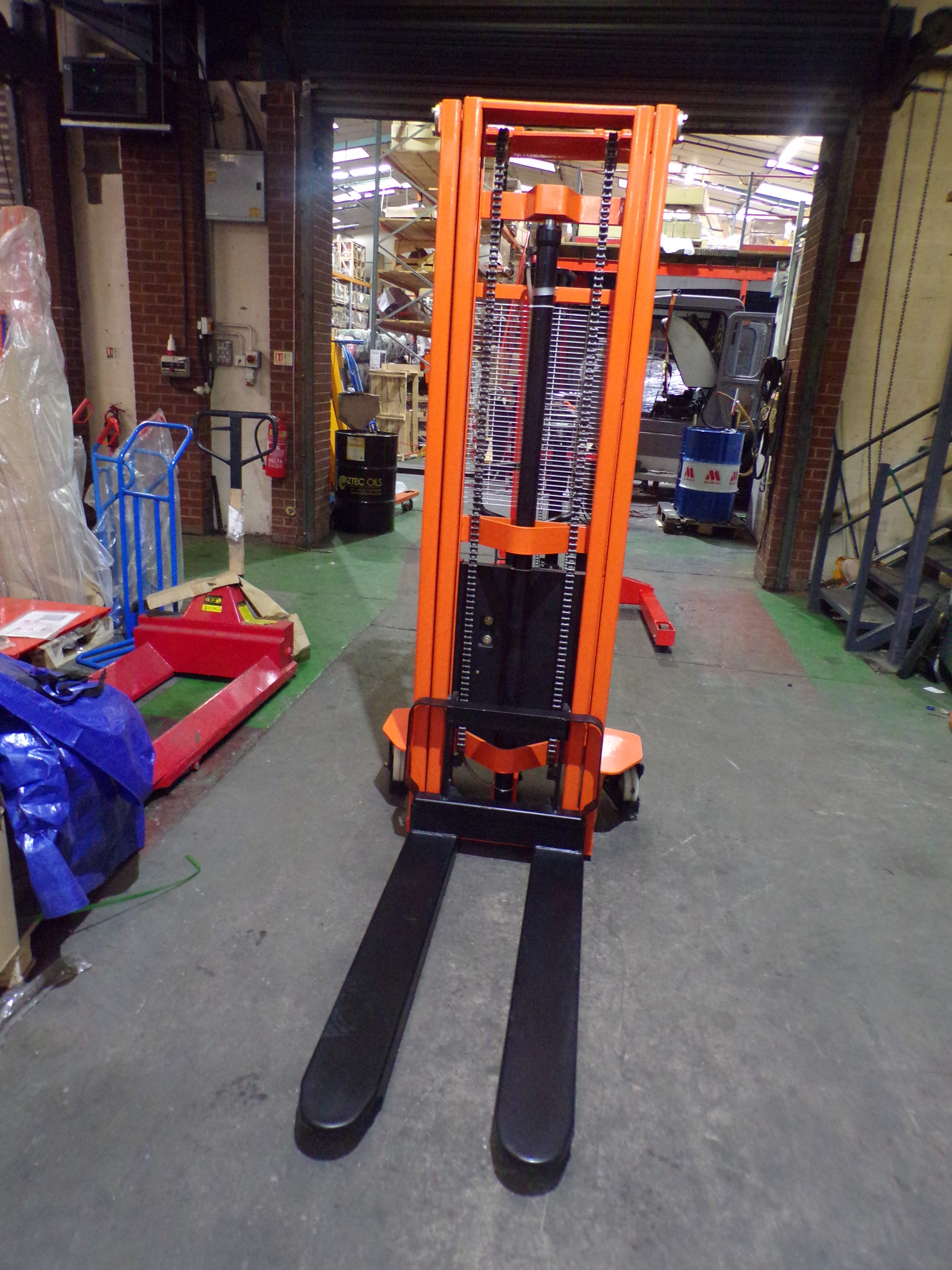 Warrior (Ex Demo) 1000kg Eco Semi Electric Stacker - 3300mm Lift Height