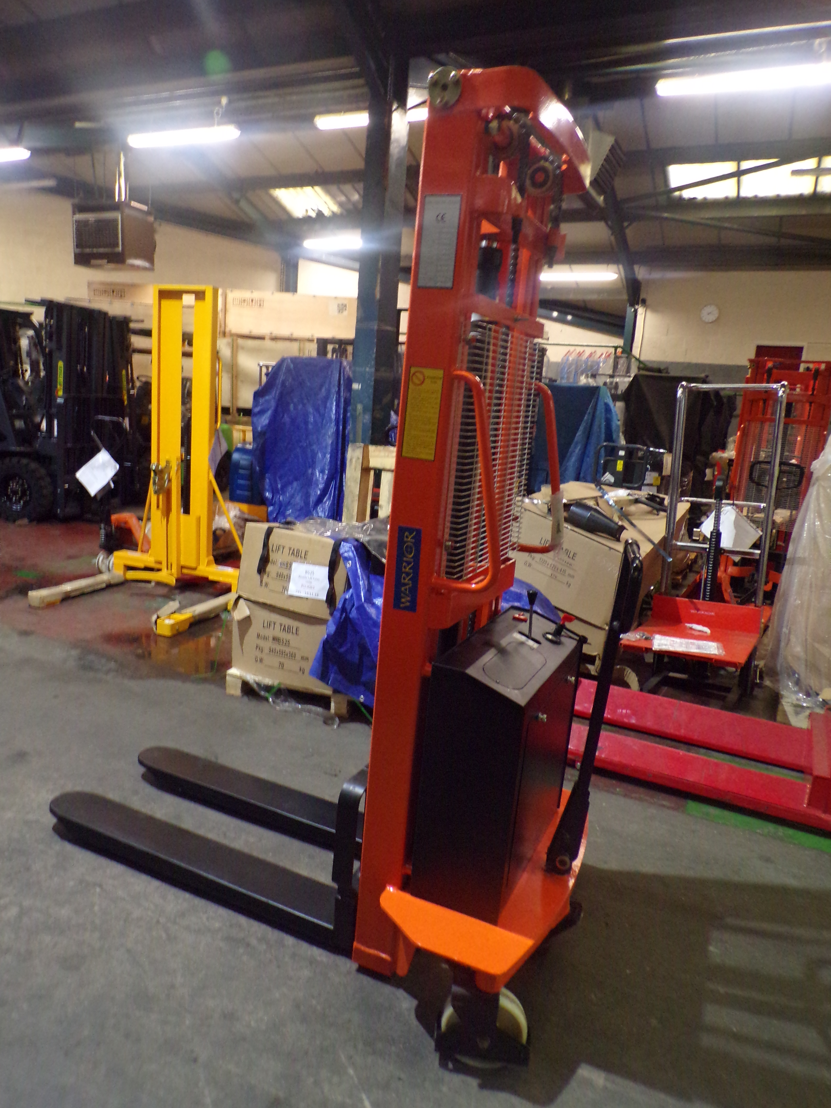 Warrior (Ex Demo) 1000kg Eco Semi Electric Stacker - 3000mm Lift Height