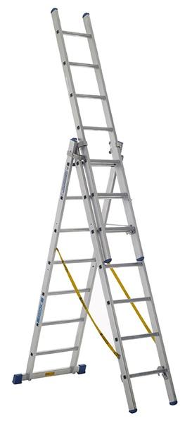 Warrior Combination Ladder (3 x 10 Rungs)