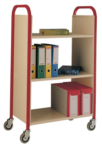 Warrior 3 Tier Single Sided Book Trolley
