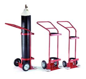 Warrior 1360L Oxygen Cylinder Trolley Red/Grey