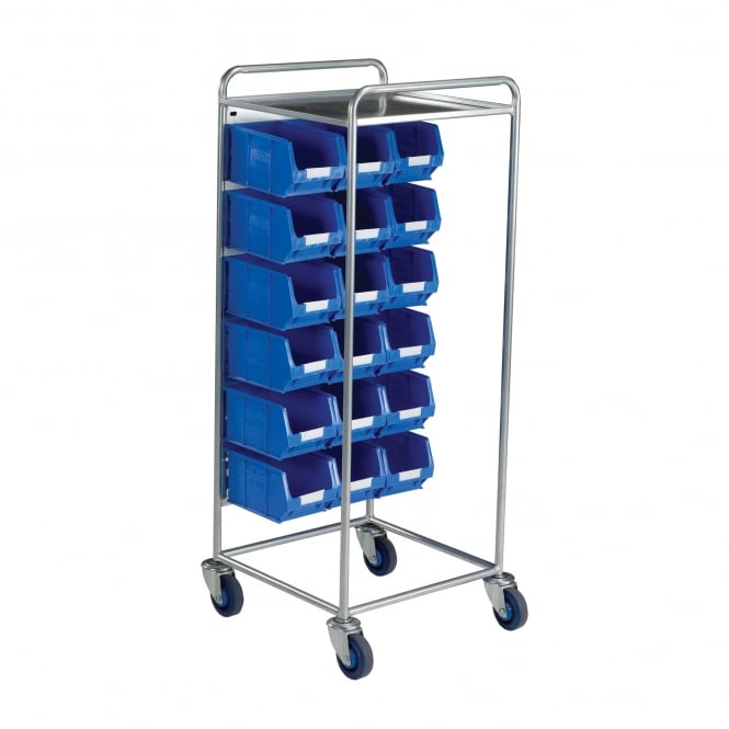 Warrior Container Trolley c/w 18 x TC3 Blue Contaiiners