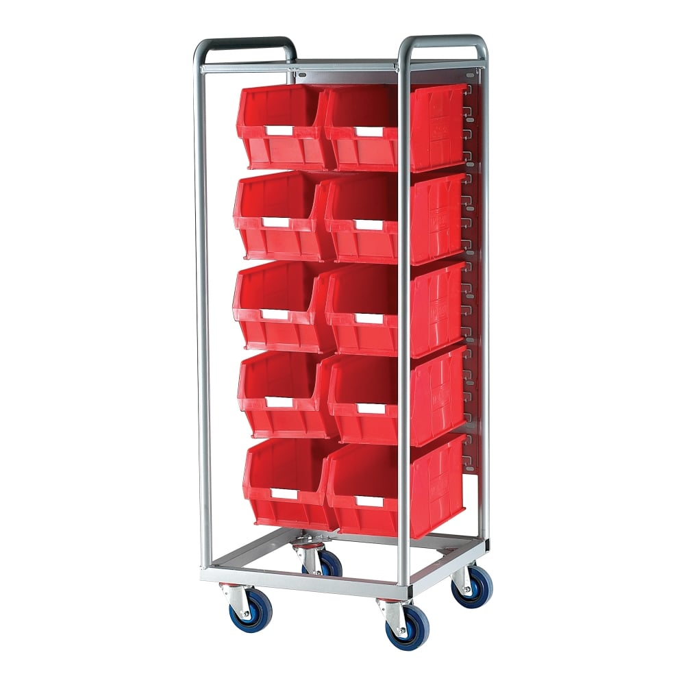 Warrior Container Trolley c/w 10 x TC5 Red Containers