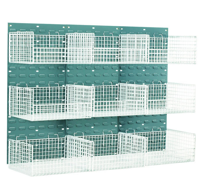 Warrior Mesh Basket Louvred Panel Kit c/w 6 Large Baskets