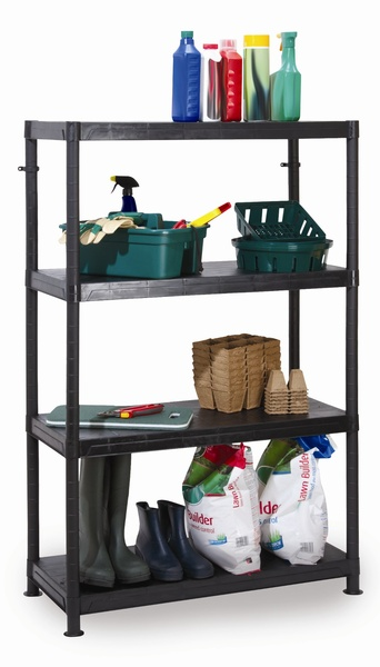 Warrior 4 Tier Modular Plastic Shelving Unit
