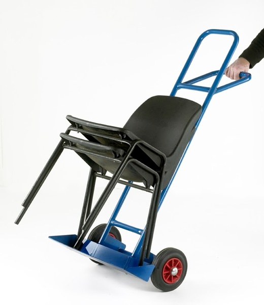 Warrior Blue Chair Truck c/w Pneumatic Wheels