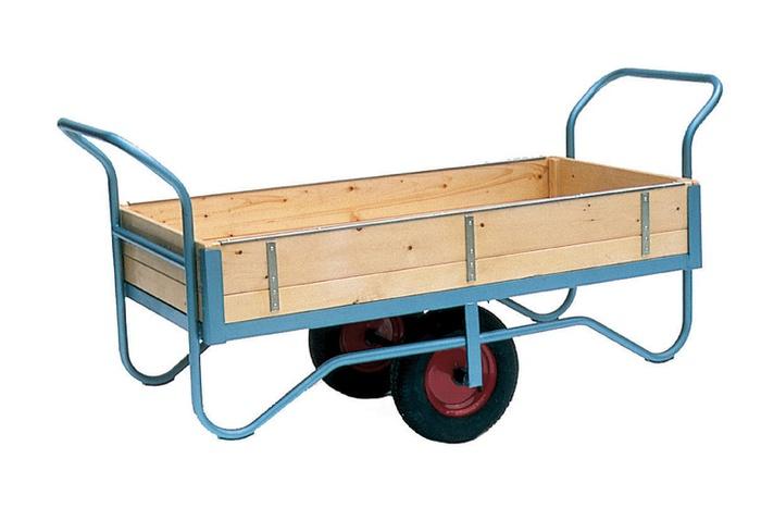 Warrior Double Handle Sided Balance Trolley with Rubber Cushion/Pneumatic Wheels
