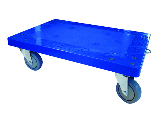 Warrior 250kg Heavy Duty Blue Plastic Dolly (2)