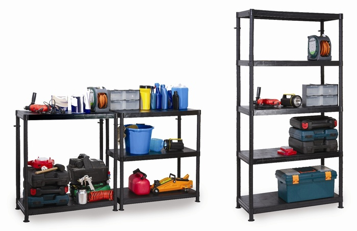 Warrior 5 Tier Modular Plastic Shelving Unit