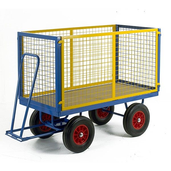 Warrior 750kg Turntable Trailer with Mesh Cage Support