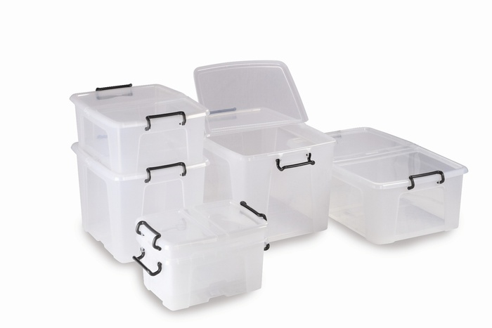 Warrior Storemaster Box 40Ltr c/w Hinged Lids