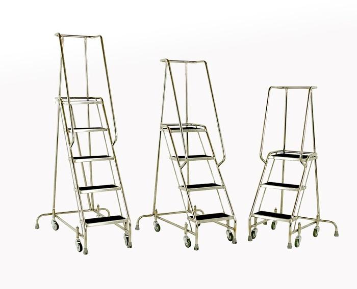 Warrior 5 Tread Stainless Steel Spring Loaded Steps
