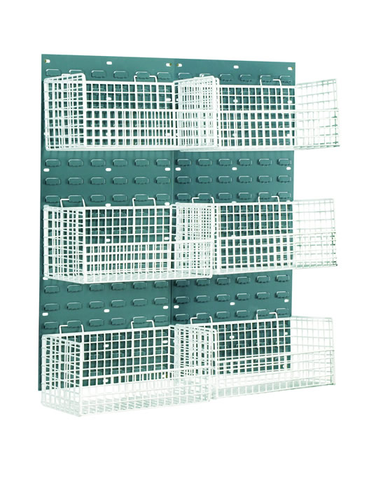 Warrior Mesh Basket Louvred Panel Kit c/w 6 Small Baskets