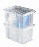 Warrior Topstore-Topbox 35Ltr Container c/w Hinged Lids