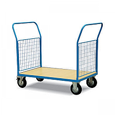 Warrior 500Kg HD Mesh Sided (2 Full Sides) Platform Truck 1000mm x 700mm