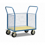 Warrior 500Kg HD Mesh Sided (3 Full Sides) Platform Truck 1200mm x 800mm