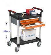 Warrior 2 Shelf Trolley With Double Drawer