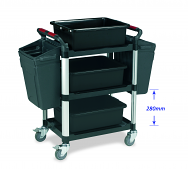 Warrior 3 Shelf Trolley with Accessories