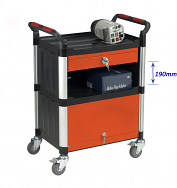Warrior 3 Shelf Trolley With Drawer & Chest