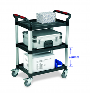Warrior 3 Shelf Trolley (Standard)