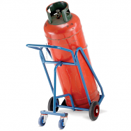 Warrior 200kg Oxygen Propane Cylinder Trolley with Rear Wheels